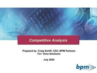 BPM Competitive Analysis 2020v Vena