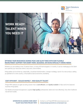 Talent Solutions RPO Work Ready Talent