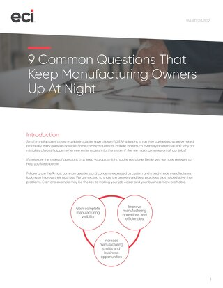 9 Common Questions That Keep Job Shop Owners Up At Night