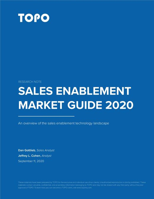 TOPO Sales Enablement Market Guide 2020