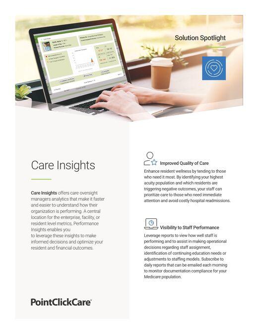 Solution Spotlight: Care Insights
