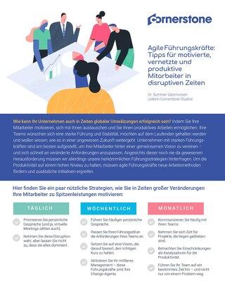 Agile Führungskräfte: Tipps für motivierte, vernetzte und produktive Mitarbeiter in disruptiven Zeiten
