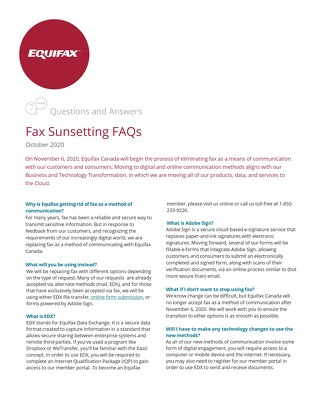 Fax Sunsetting FAQs