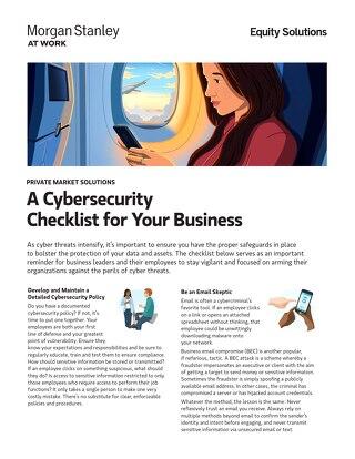 Cybersecurity Checklist Resource Sheet