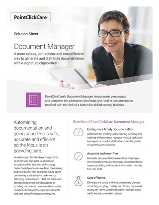 Solution Sheet: Document Manager for Skilled Nursing