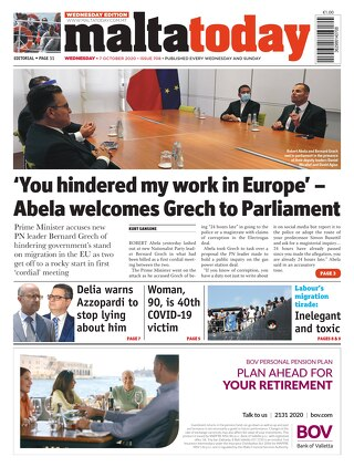 MaltaToday 7 October 2020 MIDWEEK