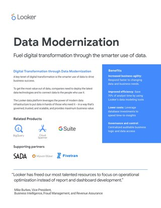 Digital Transformation through Data Modernization