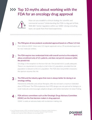 Top 10 Myths About The FDA in Oncology Drug Approvals