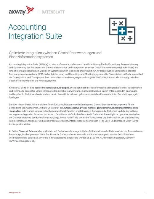 Accounting Integration Suite