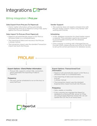 Integration ProLaw