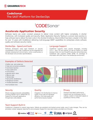 CodeSonar Datasheet