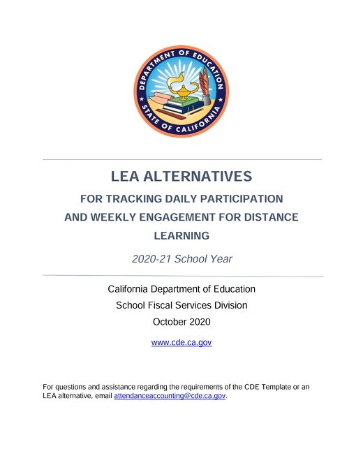 Alternatives for Tracking Daily Participation (CDE)
