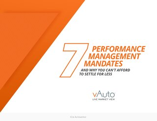 7 Performance Management Mandates