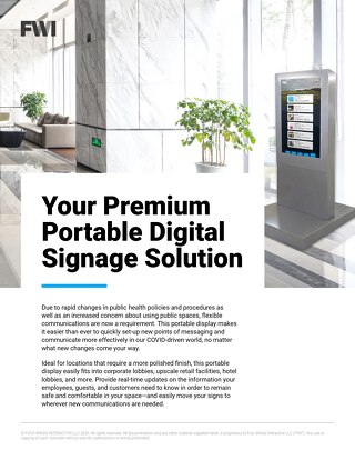 Portable Digital Signage Solution