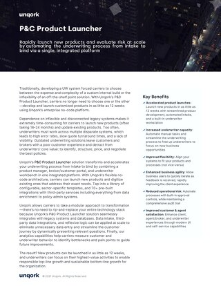 Solution Brief: Rate, Quote, Bind Product Accelerator
