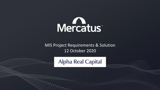 Private Debt Use Case | Alpha Real Capital