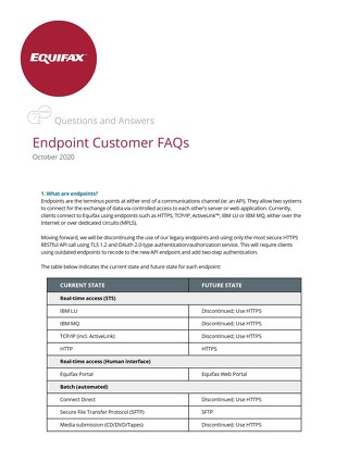 Endpoints Customer FAQs
