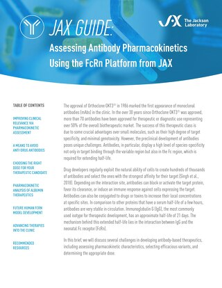 JAX Guide: Assessing Antibody Pharmacokinetics Using the JAX FcRn Platform