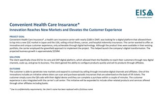 Customer Profile: Convenient Health Care Insurance