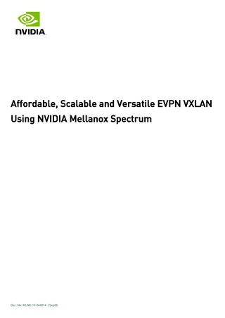 Affordable, Scalable and Versatile EVPN VXLAN Using NVIDIA Mellanox Spectrum