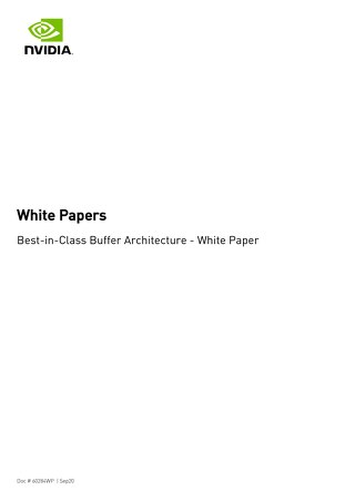 Best-in-Class Buffer Architecture - White Paper