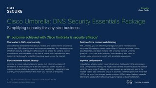 Cisco Umbrella - DNS Security Essentials Package