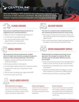 Service Capabilities Info Sheet