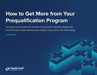 How to Get More from Your Prequalification Program