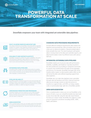 Powerful Data Transformation at Scale