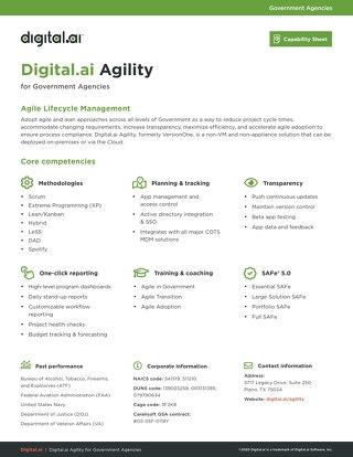 Agility Capability Sheet