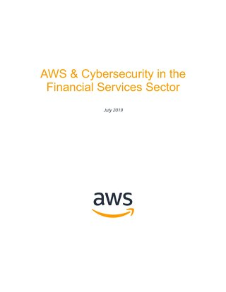 AWS and Cybersecurity in the Financial Services Sector