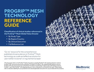PROGRIP™ MESH TECHNOLOGY REFERENCE GUIDE
