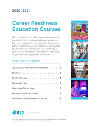 2020-21 Career Readiness Course List