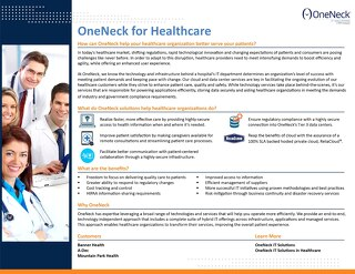 Oneneck for Healthcare