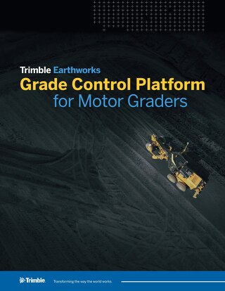 Trimble Earthworks Grade Control Platform for Motor Graders Datasheet - English