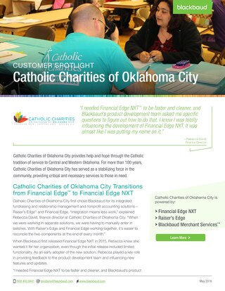 Customer Spotlight: Catholic Charities of Oklahoma City
