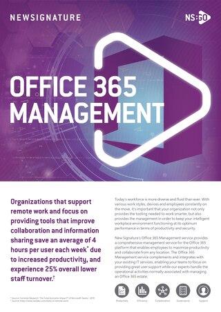 NS:GO Office 365 Management 2020 Flyer