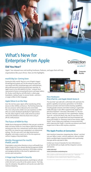 Apple What's New With Enterprise