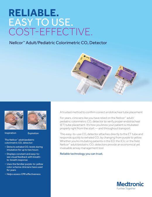 Omfo Sheet: Nellcor™ Adult/Pediatric Colorimetric CO2 Detector