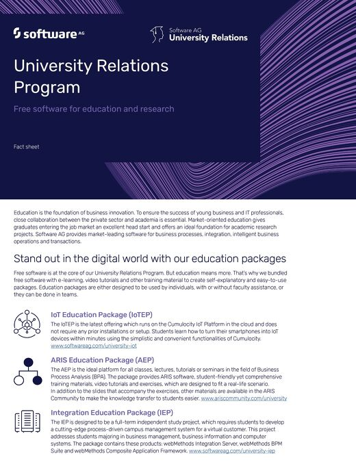 Factsheet: University Relations Program