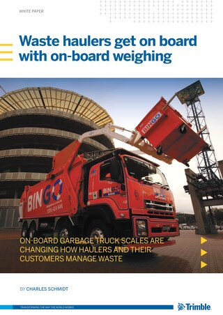 Waste haulers get on board with on-board weighing Whitepaper