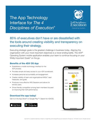 The App Technology Interface for The 4 Disciplines of Execution®