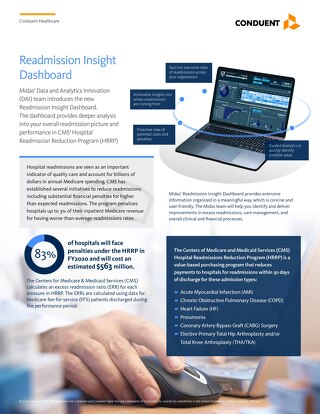 Conduent Readmission Insight Dashboard