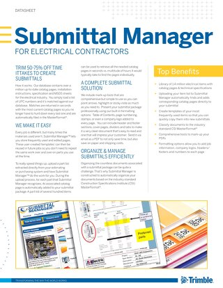 Submittal Manager Datasheet