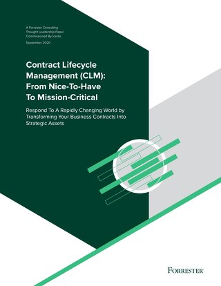 Forrester Research - Contract Lifecycle Management (CLM): From Nice-To-Have To Mission-Critical