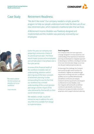 Case Study: Retirement Readiness