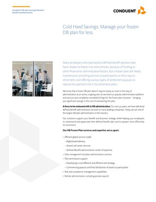 DB Frozen Plan Administration
