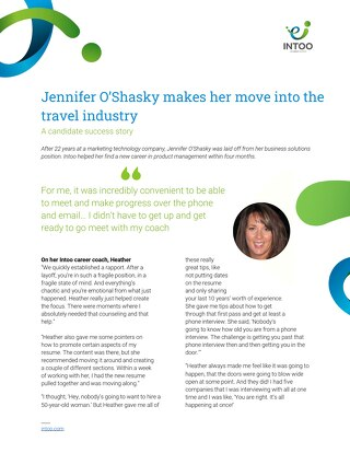 Intoo Candidate Success Story - Jennifer O'Shasky