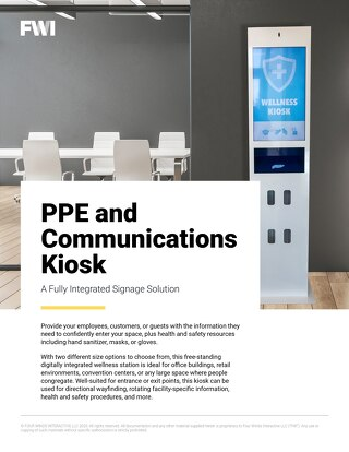 PPE and Communications Kiosk