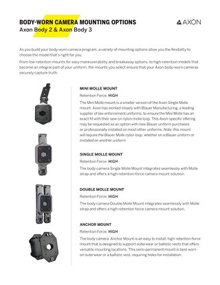 Body-Worn Camera Mounts - A Guide